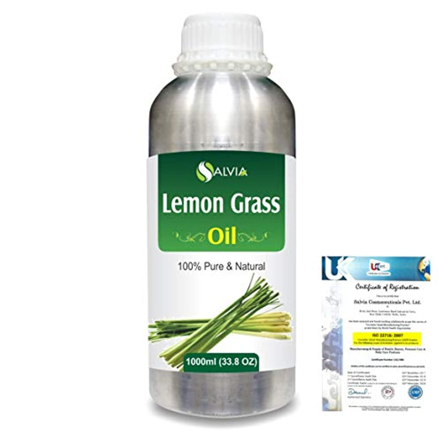不毛その他縫い目Lemon Grass (Cymbopogon citrates) 100% Natural Pure Essential Oil 1000ml/33.8fl.oz.