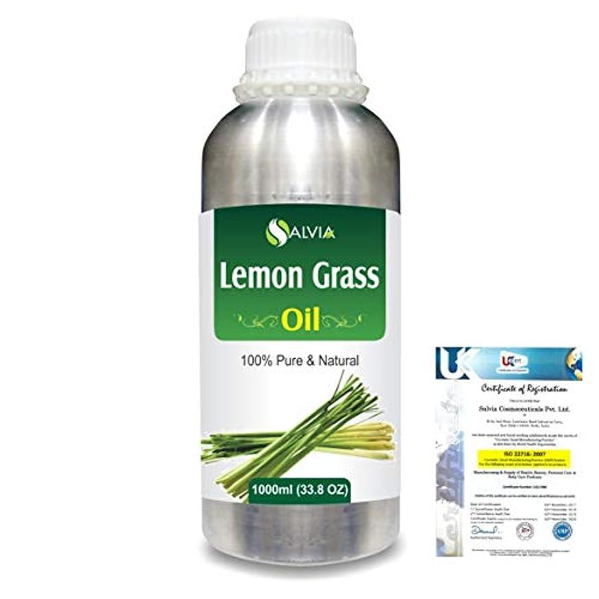 スライスバンジージャンプイブLemon Grass (Cymbopogon citrates) 100% Natural Pure Essential Oil 1000ml/33.8fl.oz.