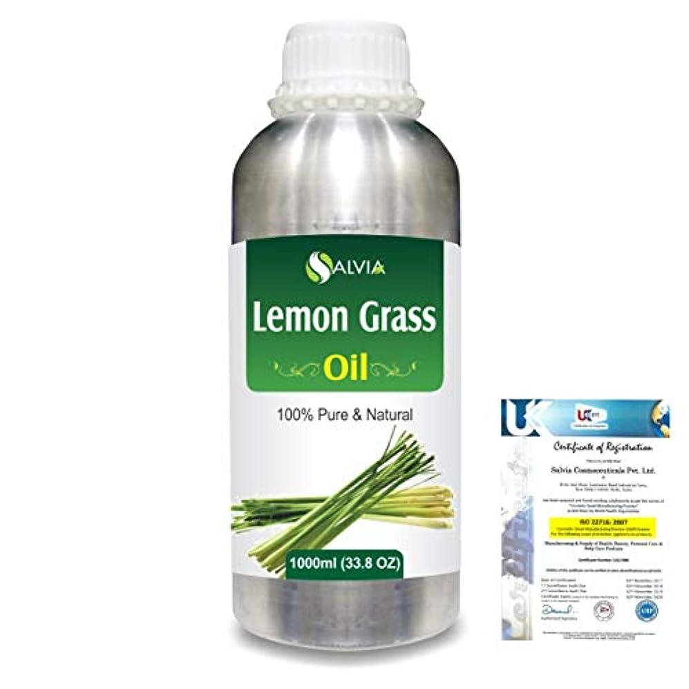噴出する倫理見つけたLemon Grass (Cymbopogon citrates) 100% Natural Pure Essential Oil 1000ml/33.8fl.oz.