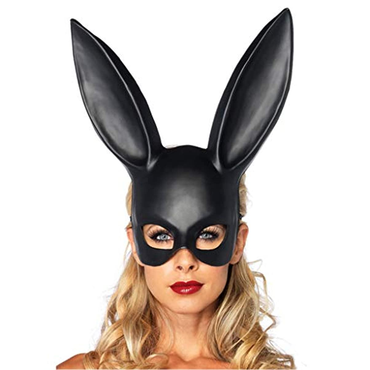 好み眉をひそめる背景ハロウィーン仮装イヤーマスクバーKTVパーティーマスクかわいいウサギのマスク (Color : C)