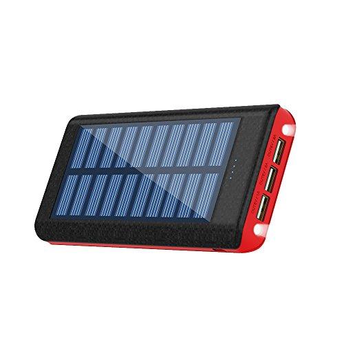 RuiPu モバイルバッテリー ソーラーチャージ 24000...