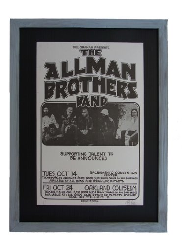 ALLMAN BROTHERS BAND OLD POSTER