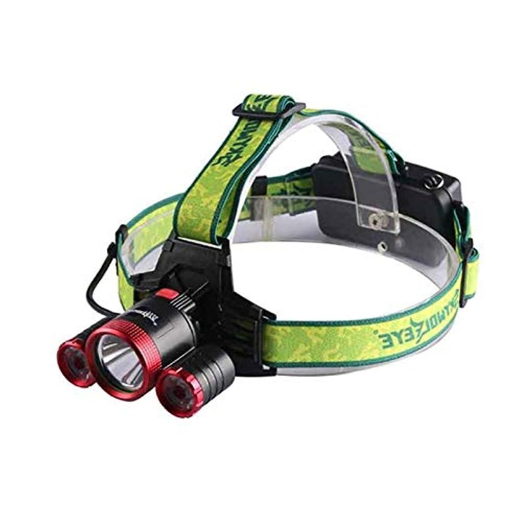 を必要としていますレプリカ傘ヘッドライト LEDヘッドランプ 超高輝度 1000ルーメン T6 3点灯モード USB充電式 防水 角度調節可能 防災 夜釣り 登山 工事作業用 電池なし レッド DOMO