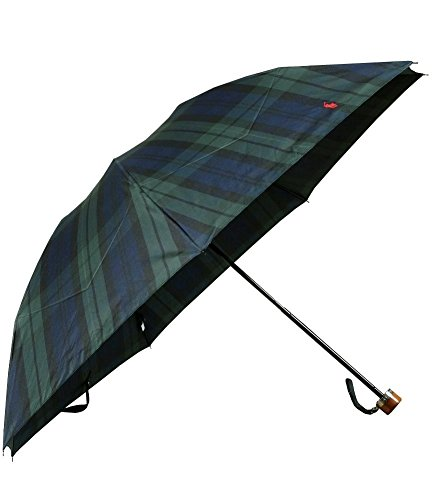 【POLO RALPH LAUREN】ポロ・ラルフローレン ポロ刺繍 ブラックウォッチ 紳士折りたたみ傘(雨傘) 緑×紺
