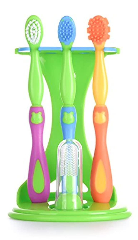 割るご注意コークスReizbaby ベビー トレーニング 歯ブラシ