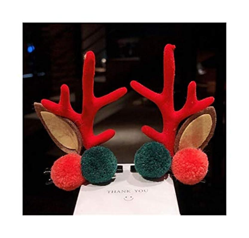 ポインタペア指定HCXD (4つのスタイルで利用可能)クリスマス飾りの枝角ヘッドバンドヘアクリップ小さなクリップの大人のヘッドバンド面白いネット赤い髪のカードかわいいヘアアクセサリー クリスマスの帽子 (スタイル : B)