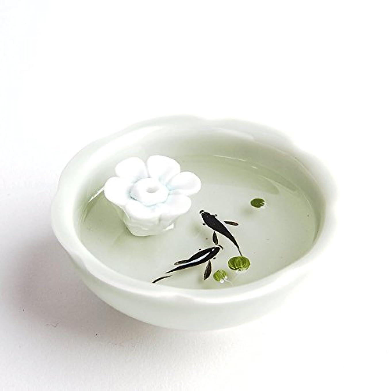 ストリーム亜熱帯資本お香立て お香たて 香の器 お香を焚いて 香皿,陶磁器、白