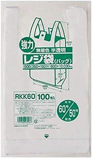 ジャパックス レジ袋 60号 (西日本50号) 100枚入 無着色半透明 0.030mm