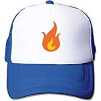 メッシュ 帽子 通勤族 ファイア Emoji 絵文字 アウトドア 日よけ おしゃれ速乾 シンプル おもしろい ブルー