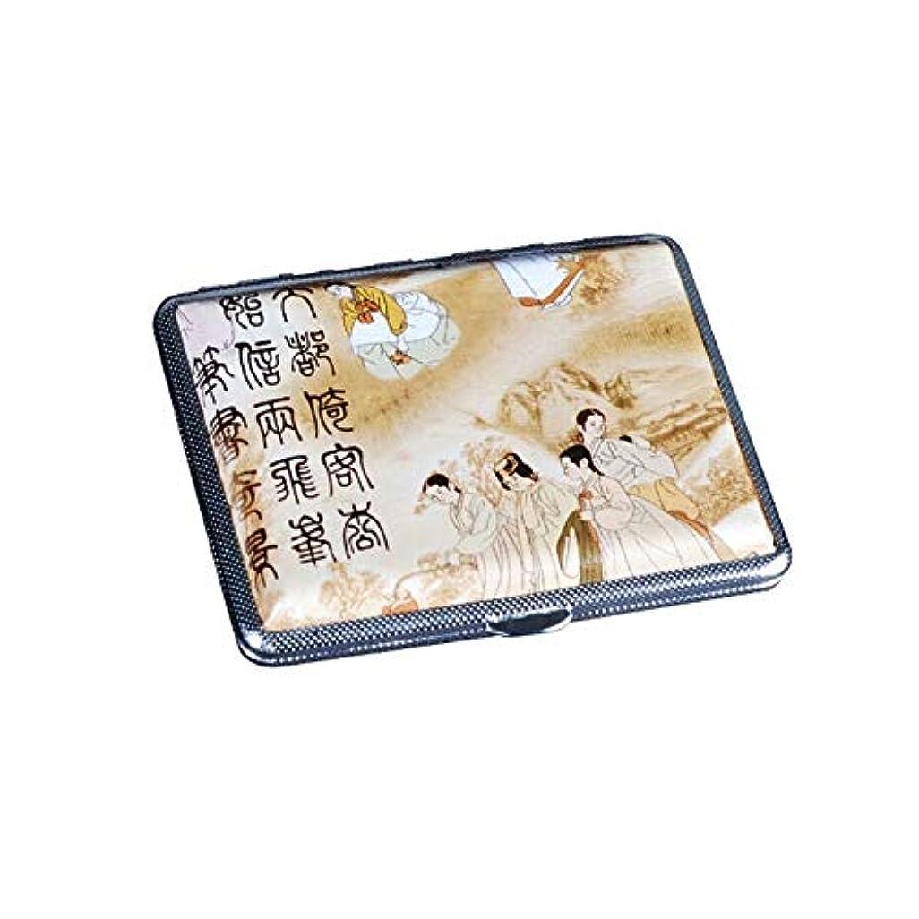 幅競う汚染XIAOCHAOSD タバコ箱、自動ビジネス統合、メンズクリエイティブレザーシガレットケース 14、16、18スティック、 (Size : 14 sticks)