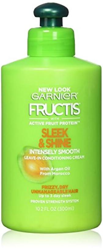 泣いている保護最大化するGarnier Fructisなめらか&強烈スムーズリーブインコンディショニングクリーム10.2オズ(2パック)をシャイン