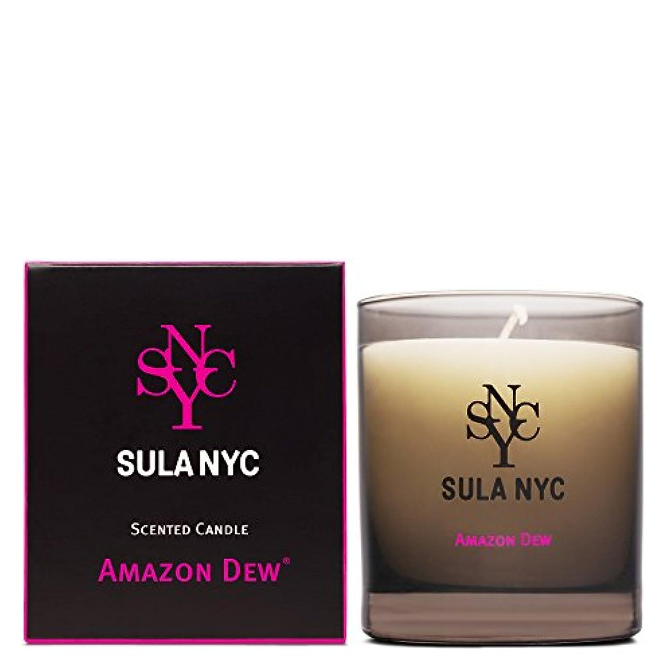 十億暫定の動的SULA NYC SCENTED CANDLE AMAZON DEW スーラNYCセンティッドキャンドル アマゾン?デュー
