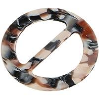 SONONIA スカーフリング  バックル 円形 ホルダー シルク 装飾品  魅力的 贈り物 全6色 - ヒョウ