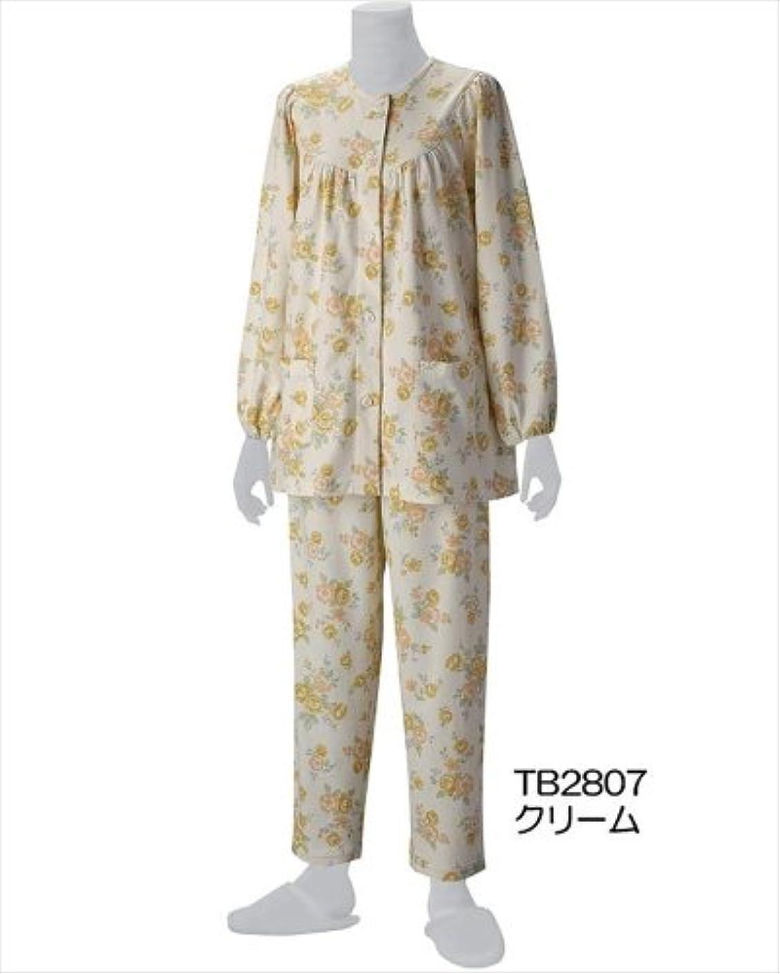 リングバック呼ぶ乱雑なグンゼ 健康支援パジャマ 長袖パジャマ(セット) M  TB2807 クリーム?TB2807