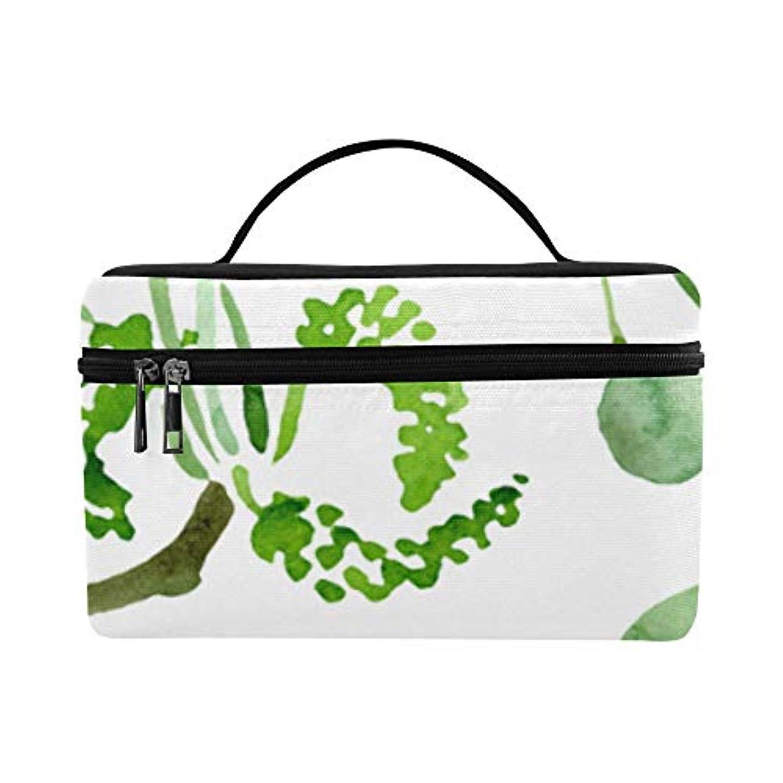 学部フライカイト発言するKWESG メイクボックス 緑 イチョウの葉 コスメ収納 化粧品収納ケース 大容量 収納ボックス 化粧品入れ 化粧バッグ 旅行用 メイクブラシバッグ 化粧箱 持ち運び便利 プロ用