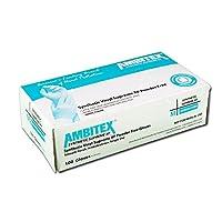 Tradex v5221W-md Ambitex Medium powder-freeビニール手袋–1000/cs
