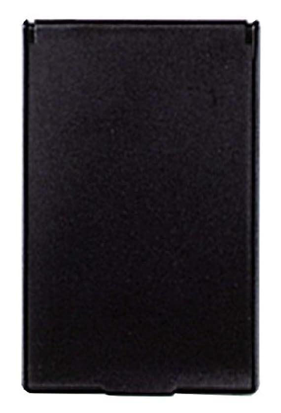 北方予報透明にビブレ 角型 コンパクトミラー S ブラック Y-3572