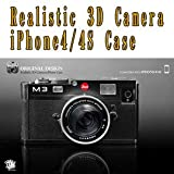Realistic 3D Camera iPhone4/4S Case A-BK BLACK RCI4A/BK