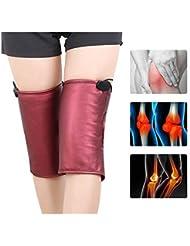 関節炎のための加熱された膝装具サポート1対加熱療法Kneepads-赤外線マッサージラップ膝の痛みの軽減