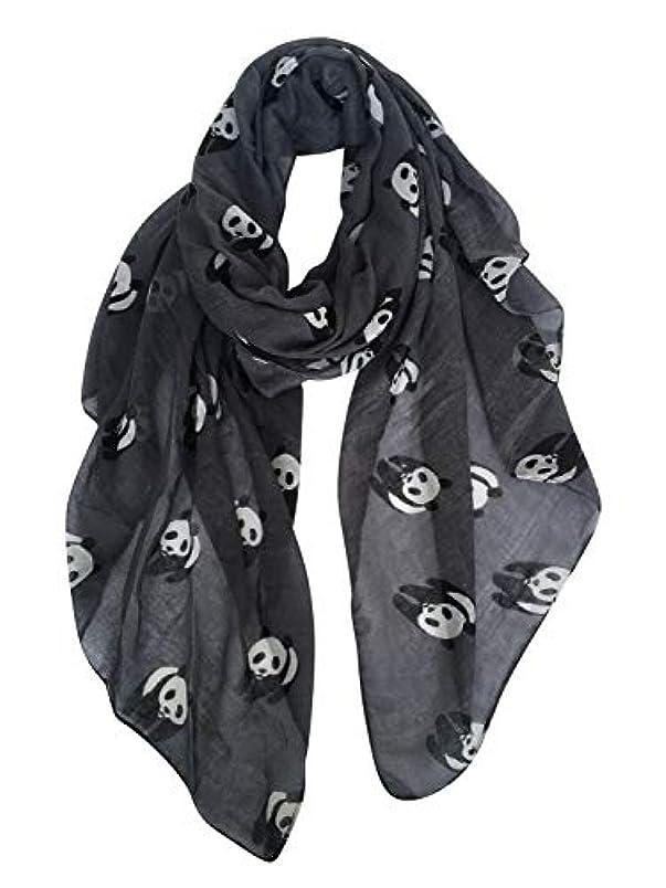 貨物シールド反発gerinly動物印刷スカーフ:パンダキュートパターンレディースラップスカーフ