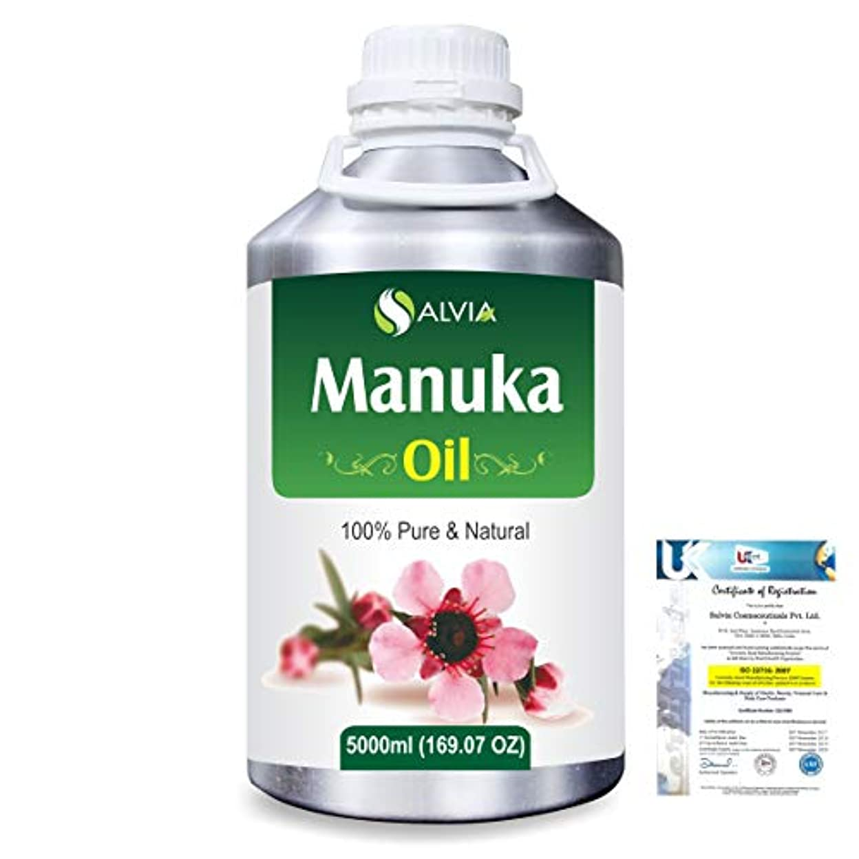 プラカードフレキシブル略語Manuka (Leptospermum scoparium) 100% Natural Pure Essential Oil 5000ml/169fl.oz.