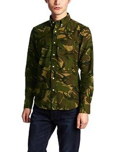 Camouflage Buttondown Shirt 13050312001710: Khaki A