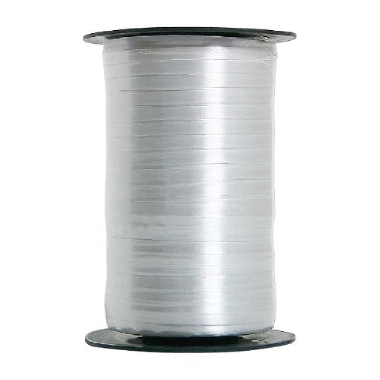 Qualatex(クォラテックス)バルーンリボン(カーリングリボン)シルバー色 幅4,75mm×長さ457,2m