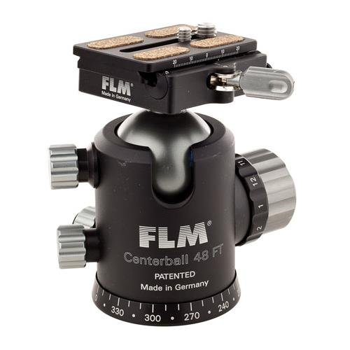 FLM cb-48FTR 48mm Ballhead with qpr-70クイックリリースクランプとカメラプレート、サポート99lbs