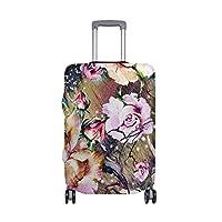 スーツケースカバー 美しい 花 絵画 伸縮素材 旅行 弾性設計 防塵 ラゲッジカバー キャリーカバー 人気 S M L XL お荷物カバー