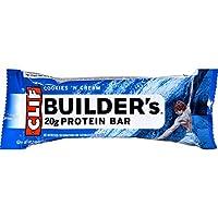 Clif Bar Builder Bar - Cookies and Cream - Case of 12 - (2.4 oz each)