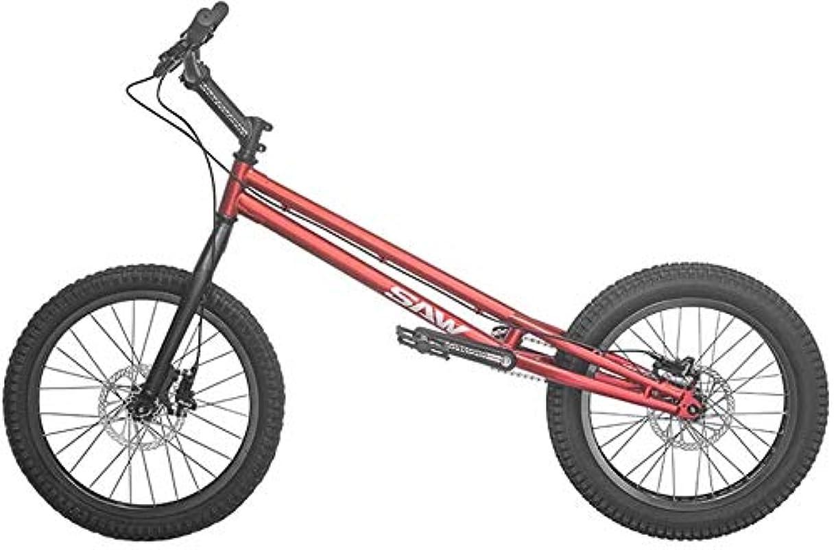販売計画行静けさBMX 自転車 20インチBMXトライアルバイク/初心者および上級ライダー向けのトライアル、Crmoフレームおよびフォーク、ブレーキ付き(ワイヤーディスク/ 350オイルディスク),Red,upgraded version
