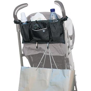 JL Childress Bottles 'N Bags Stroller Organiser for Newborn and Above (Black)