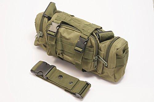 PeachCraft 多機能バッグ 5WAY ウエストバッグ ショルダーバッグ メッセンジャーバッグ ハンドバッグ 自転車用バッグ (深緑(オリーブ))