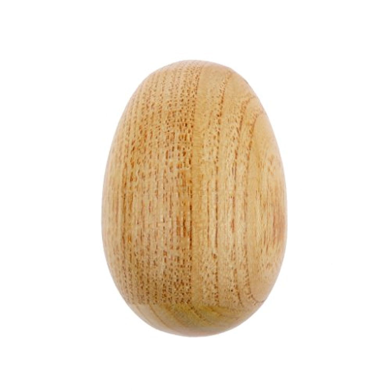 SM SunniMix 木製 卵 シェーカー ガラガラ 子供 楽器 音楽玩具 パーカッション おもちゃ
