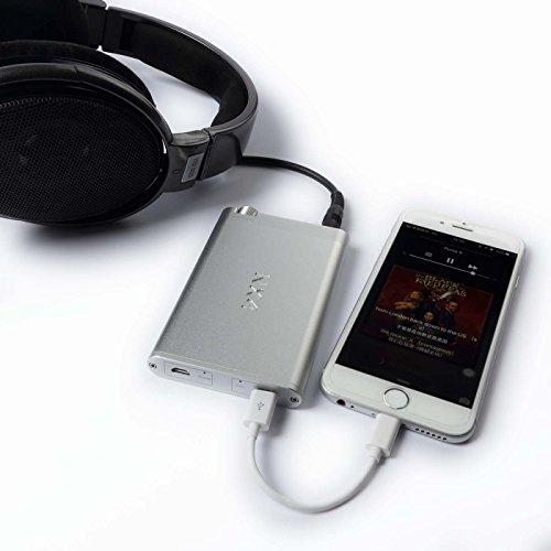 Topping NX4 ヘッドホンアンプ 高性能ポータブル HIFI デジタル USB-DAC搭載 ハイレゾ音源対応 Iphone/一部のAndroidに対応 高音質 (シルバー)