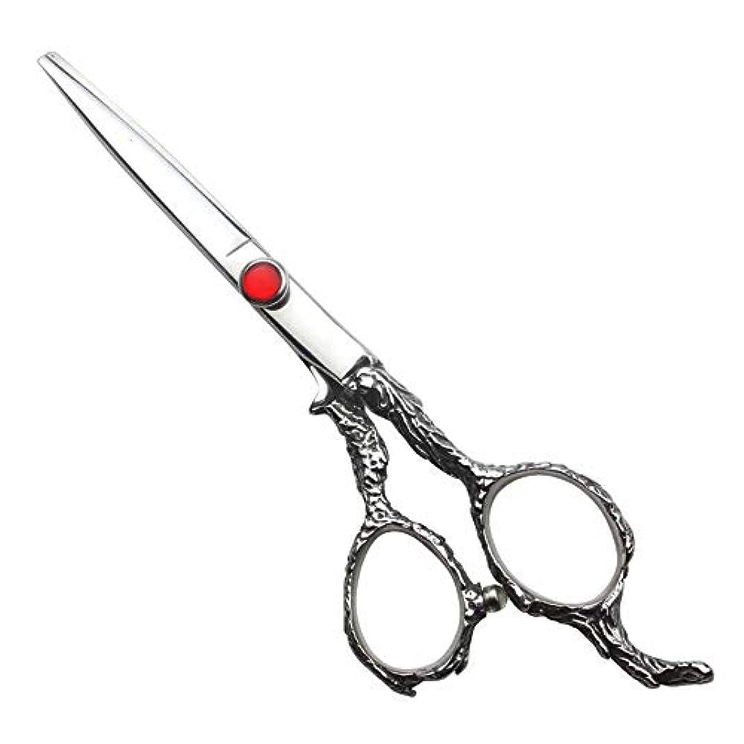 タイトルカルシウム体系的に6インチ理髪はさみセット、家族の散髪用具セット モデリングツール (色 : Silver)