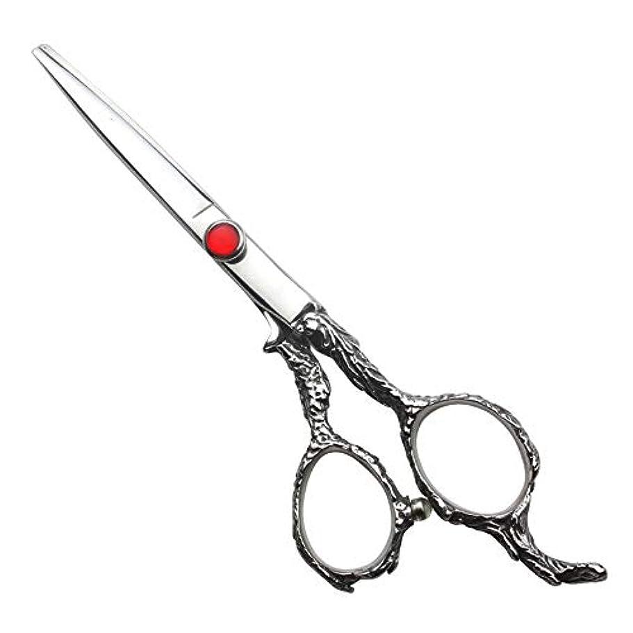 堤防定義する同志理髪用はさみ 6インチ理髪はさみセット、家族の散髪ツールヘアカット鋏ステンレス理髪はさみ (色 : Silver)