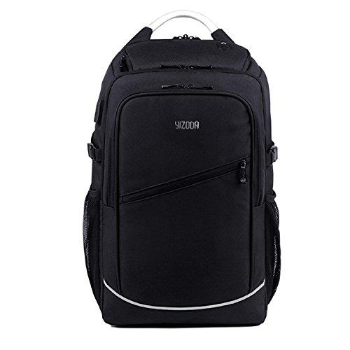 バックパック ビジネス リュック 多機能 ポケット バックパック 大容量防止防水リュック USB ポート搭載 通学 通勤 男女兼用