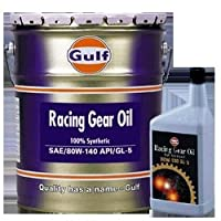 ガルフ【Gulf】 ギアオイル RACING GEAR OIL 80W-140 1L X 6本セット 100%合成