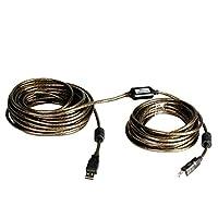 kzeuxプリンタケーブル32ft ( 10メートル) USB 2.0A - b-male High Speedプリンタ/スキャナ/リピータケーブル 50 FT/15 Meter