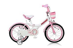 ROYALBABY(ロイヤルベイビー) 18インチ 子供用自転車 バスケット ハンドルバークッション 前後泥除け付き RB-Jenny 18 ピンク