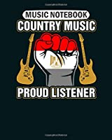 Music Notebook: egyptian country music proud listener  Music Sheet- 50 sheets, 100 pages - 8 x 10 inches