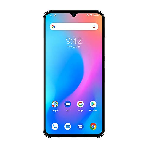UMIDIGI A5 Pro SIMフリースマートフォン Android 9.0 6.3インチ FHD+水滴型ノッチ付きディスプレイ 16MP+8MP+5MPトリプルカメラ 4150mAh 4GB RAM + 32GB ROM Helio P23オクタコア DSDV対応 グローバルバージョン 顔認証 指紋認証 技適認証済み au不可 (ブルー1)