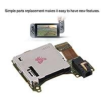 Fosa ゲームカードスロットソケットボード ヘッドフォンポート 任天堂スイッチコンソールに対応 SDカードボードの交換 任天堂NSカードスロット、イヤホンボード付き
