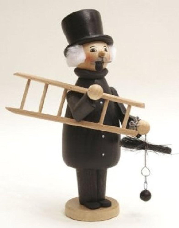 優遇チェスをする実業家煙突スイープGermanクリスマスIncense Smoker Made inドイツエルツ山地Burner