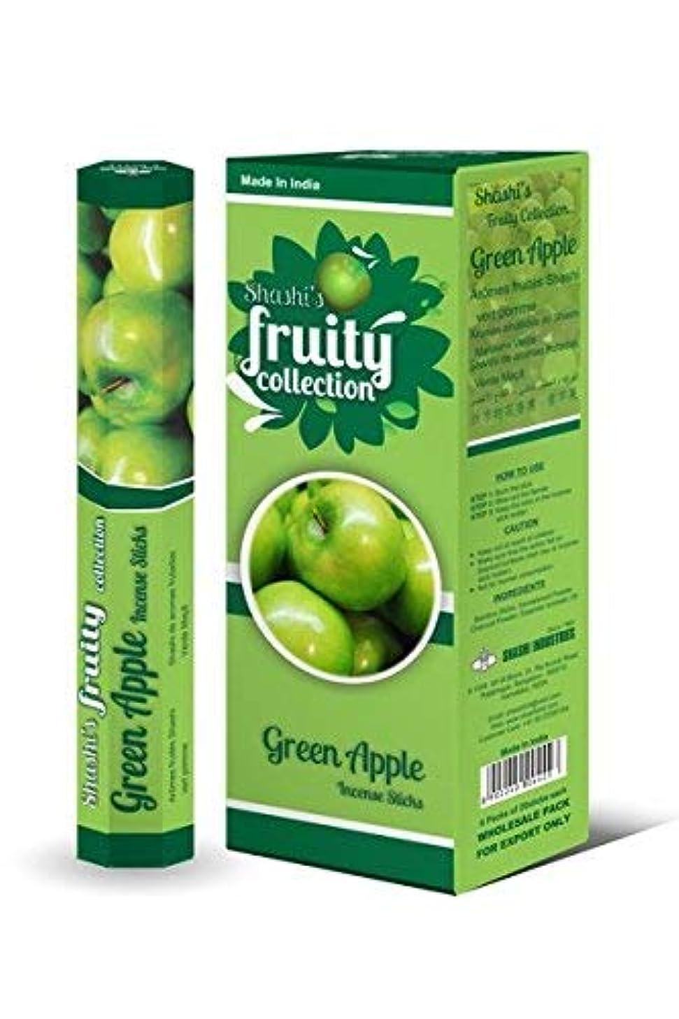 不道徳抑圧する徐々にShashi's Green Apple Incense Sticks (Pack of 6)