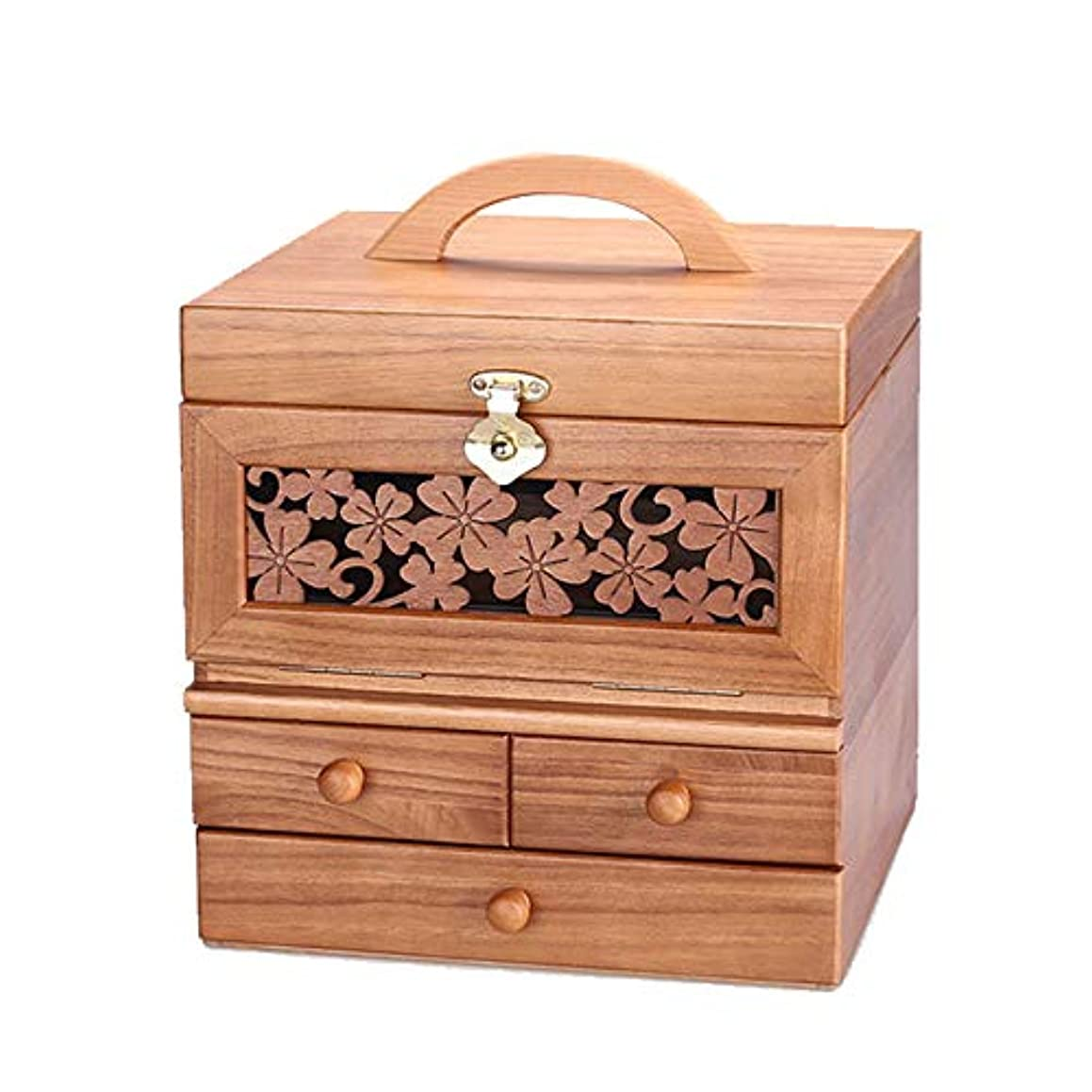 選択するグレード印刷するRouling メイクボックス コスメボックス 化粧ボックス コンパクト 三面鏡 化粧box 化粧箱 化粧小物 化粧道具入れ メイク 天然木 完成品 (BROWN)