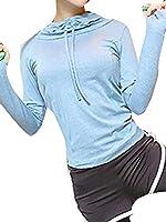 [ネルロッソ] ヨガウェア トップス レディース パーカ フード tシャツ ジム フィットネス ランニング ホットヨガ スポーツ 大きいサイズ 正規品 M 3 cla24165-M-3
