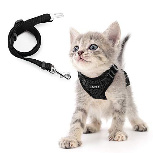 【リード付き】猫用 ハーネス リード セット 犬 小型犬 用 胴輪 車シートベルドに使用可 サイズ調節可 抜け...