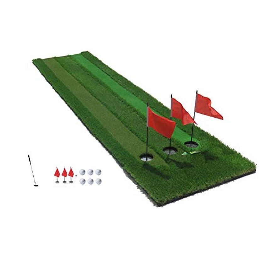 援助するヒョウ路面電車ゴルフはマットスリースピードポータブル練習マットが3メートル0.7メートルのxマット屋内屋外のゴルフマットトレーニングエイド機器を叩くグリーンゴルフのパッティングを置きます